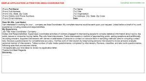 area coordinator job title docs