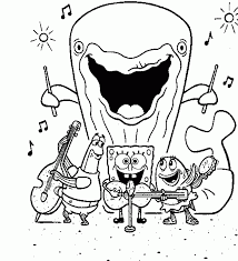 spongebob squarepants gary coloring pages coloring home