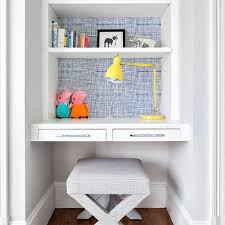 Small Kid Desk Stylish Built In Desk Ideas For Small Spaces Tables For Study