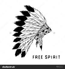 free native american headdress clipart clipartxtras