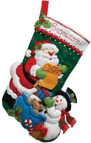 bucilla santa s list felt applique kit 86360