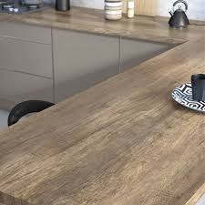 plan de travail cuisine sur mesure stratifié plan de travail stratifié planky mat l 315 x p 65 cm ep 38 mm