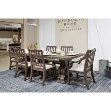 magnolia farms dining table another view from our showroom of the traditional double pedestal