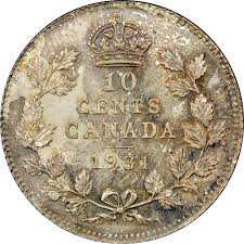 canada 10 cents km 23a prices u0026 values ngc