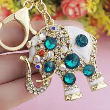 nice key rings images Crystal elephant keychain nice cool jpg