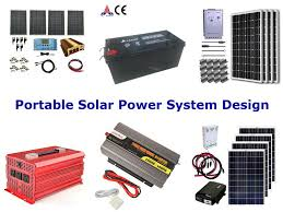 portable solar power system design a clean green power system for