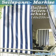 seitenschutz balkon balkon seitenschutz seilspannmarkise ca 230x140 set