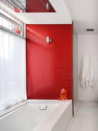 colorful bathrooms red tiles idea paint and ruby red