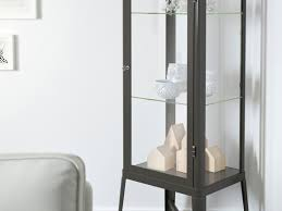 ikea fabrikor fabrikör glass door cabinet dark grey