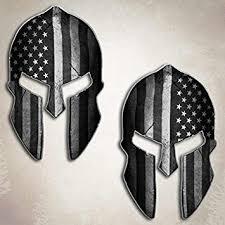 amazon com american flag subdued spartan helmet decal set