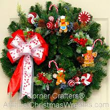 christmas wreath gingerbread christmas wreath artificialchristmaswreaths