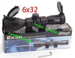 scope with rings images Walther 6x32 aoe mil dot multi coating anti shock rifle scope jpg