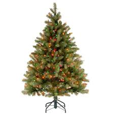 home accents holiday 4 5 ft pre lit potted artificial christmas