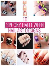 10 spooky halloween nail art designs mom spark mom blogger