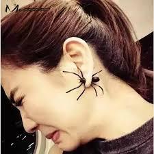 ear stud men meetcute new big black spider earrings for women men animal