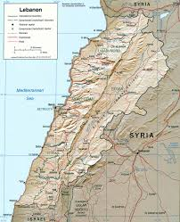 Physical Features Of Europe Map by Geography Of Lebanon Wikipedia