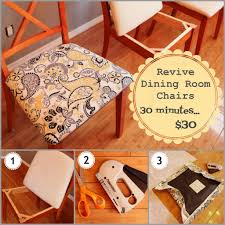 Recovering Dining Room Chair Cushions Dining Room A Whole New Look In About 30 Minutes With Only 30