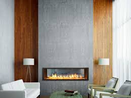 phenomenal floating gas fireplace on wall living room timber