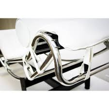 home design le corbusier lc4 chrome and leather lounge chair at