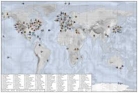 World Map 1950 Map Shows The Location Of Popular Animated Movies Across The World
