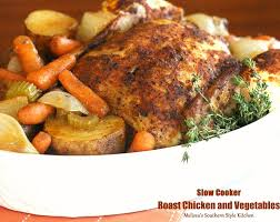 Roast Whole Chicken Slow Cooker Roast Chicken And Vegetables