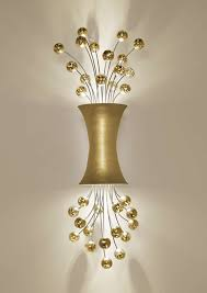 Gold Wall Sconces Sconce Lighting In 24ct Yellow Gold Leaf Finish By Boyd Lighting