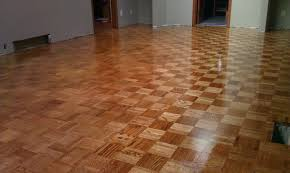 unit block parquet oak flooring glued stained nutmeg yelp