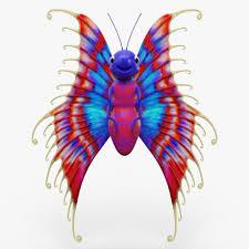 cartoon butterfly 3d model cgstudio