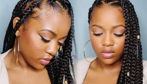 box braids vs individuals can t grip those roots try box braids using the rubberband method