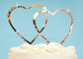 heart wedding cake toppers ct heart flower wf wedding cake toppers