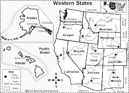map of united states countries and capitals western us states map quiz printout enchantedlearning com