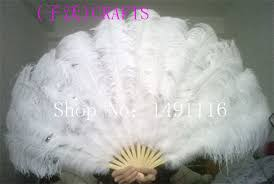 ostrich feather fans 12 colors big ostrich feathers fan with bamboo staves for belly