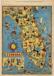 Tampa Florida Usa Map by Vintage Florida Map Obsessed With Maps Pinterest Florida