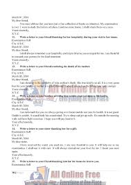 thanksgiving letter for hospitality guess notes 9th class english letters and comprehensions all