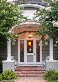 pergola front entry traditional with gray shingle traditional