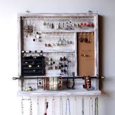 necklace organizer display images Best wall mounted jewelry organizer products on wanelo jpg