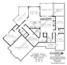 craftsman house plans with basement the springs cottage house plans by garrell associates inc