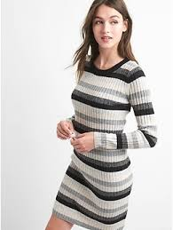 wool dress stripe wool blend dress gap