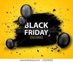 black friday sale poster seasonal discount stock vector 731425120
