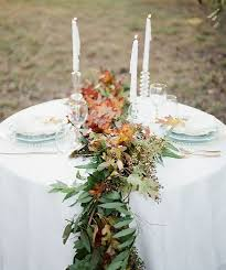 fresh flower table runner picture of fresh greenery and fall leaves table runner for beautiful