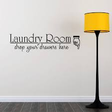 laundry room quote wall sticker by mirrorin notonthehighstreet com