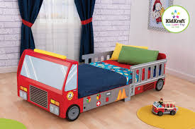 themed toddler beds amazon com kidkraft fire truck toddler bed toys games
