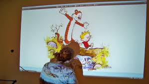 creating a mural for the nursery calvin hobbes edit done next we started painting in the lines you know like paint by numbers or a coloring book