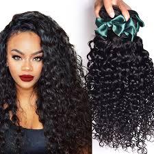 Hair Weave Extensions by Brazilian Virgin Hair Water Wave 4 Bundles Brazilian Curly Virgin