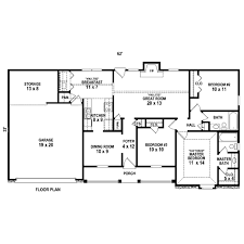 ranch style house plan 3 beds 2 00 baths 1239 sq ft plan 81 13863