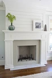 How To Update Brick Fireplace by Best 25 White Fireplace Mantels Ideas On Pinterest White
