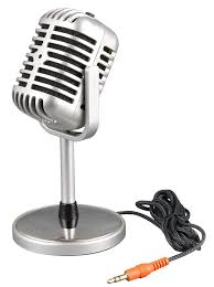 Desk Microphone Stand by Retro Mic Desktop Microphone For Laptop Pc Computer Personality