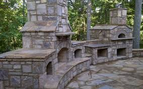 Stacked Stone Outdoor Fireplace - charming decoration stone outdoor kitchen pleasing stacked stone