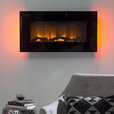 Wall Electric Fireplace Wall Electric Fireplace Mount Modern Led Lights Heater Flame Black