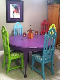 Gorgeous Hand Painted Table And Chairs Now I Cant Decide How To - Funky kitchen tables and chairs